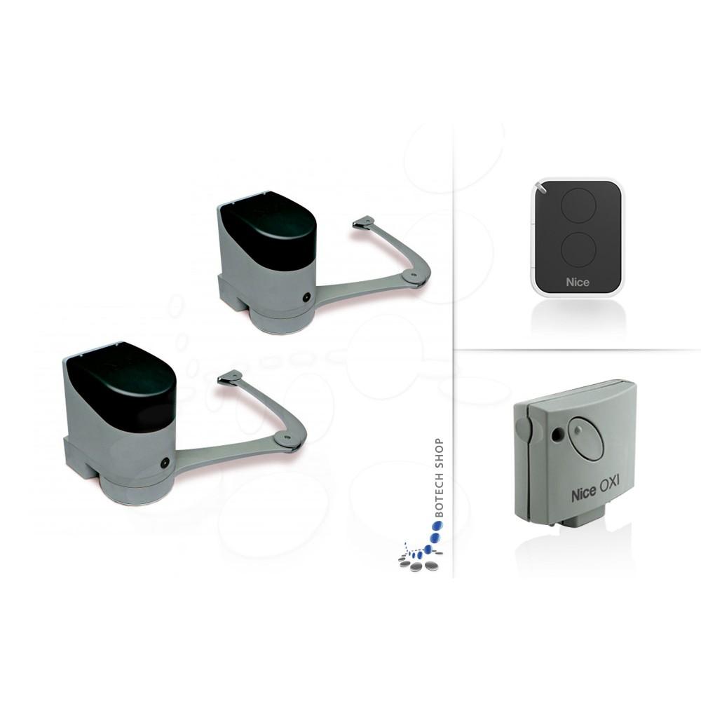 nice hopp 7124 2 kit s moteur pour portail battant. Black Bedroom Furniture Sets. Home Design Ideas