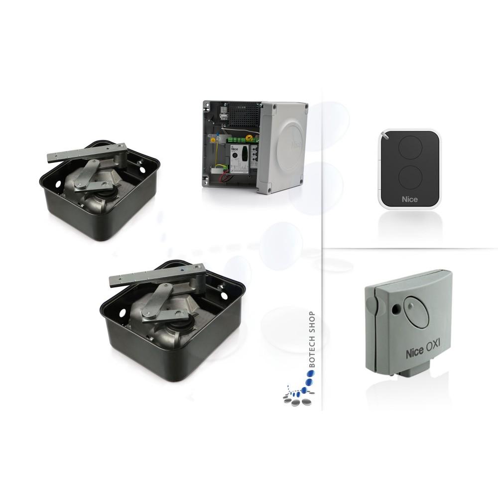 nice metro 3000 2 moteur enterr 230v pour les portails battants kit s. Black Bedroom Furniture Sets. Home Design Ideas