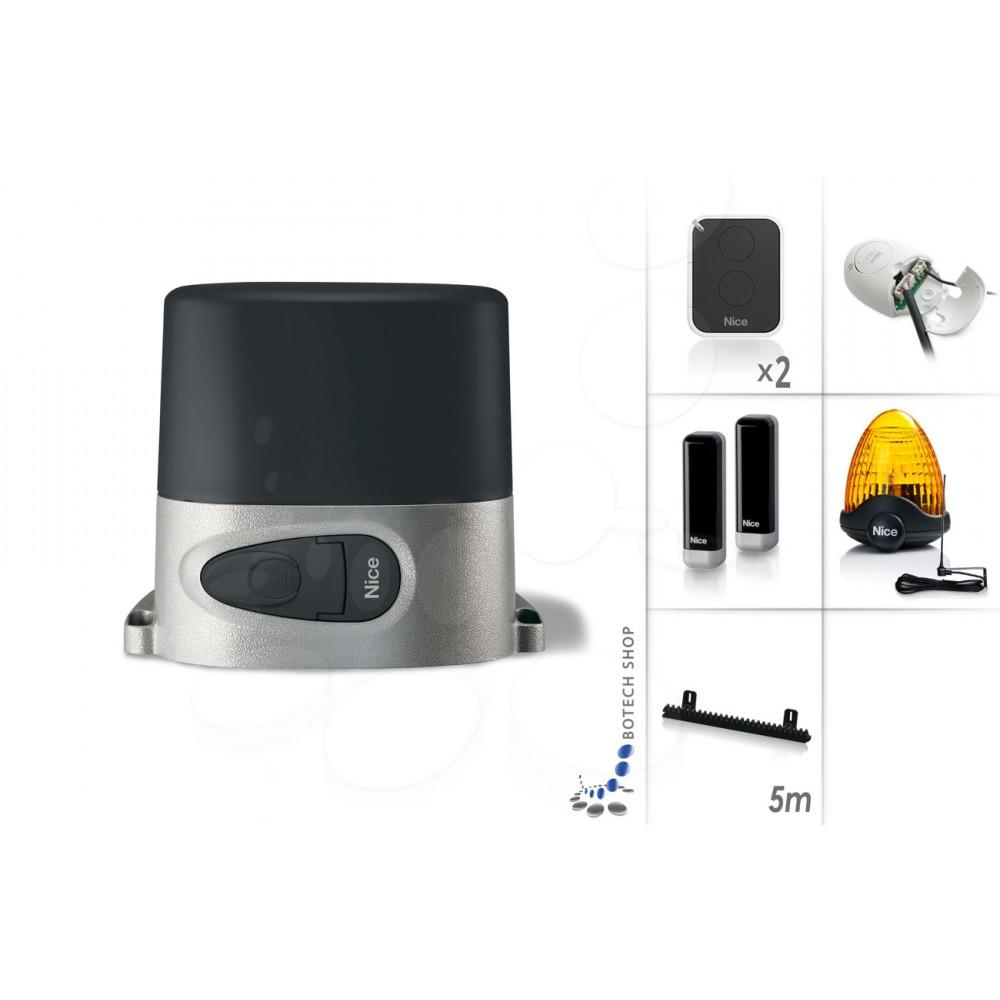 nice robo 1000 moteur 230v pour les portails coulissants kit l. Black Bedroom Furniture Sets. Home Design Ideas