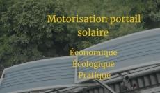Motorisation portail solaire