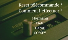 Comment effectuer le reset télécommande portail ?