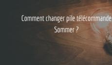 Changer pile télécommande Sommer Mini